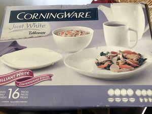 CorningWare Brilliant White Place Settings for 4 for Sale in Manassas, VA