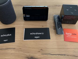 (NEW) Amazon Echo, Echo Show 5, FireTv Cube for Sale in Los Angeles,  CA