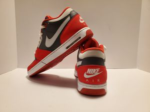 Nike Air Mens Mid Top Red / Gray Leather Sneakers Shoes 10.5 Lace Up for Sale in Mesquite, TX