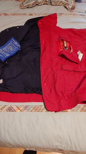 XL stormy seas rain coat life jacket for Sale in SeaTac, WA