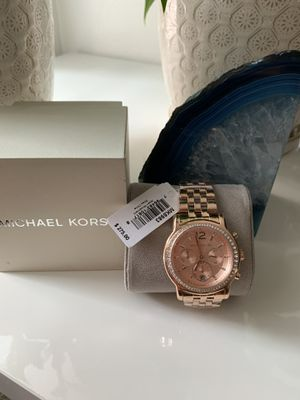 Michael Kors Women's Chronograph Rose Gold Dial Stainless Steel Watch for Sale in Whittier, CA