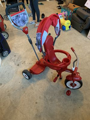 Radio Flyer, Ride & Stand Stroll 'n Trike, Platform for Second Rider, Red for Sale in undefined