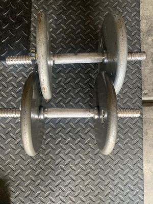 Dumbbells adjustable (2) 20 lbs for Sale in Fort Mill, SC