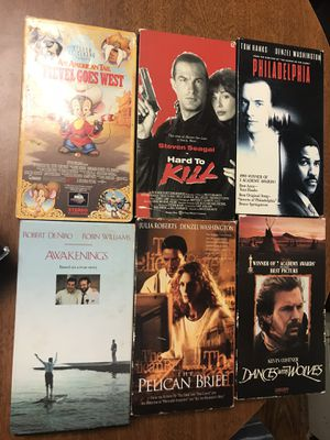 Movies 🎥 6 different VHS movies for $10 for Sale in Deerfield Beach, FL