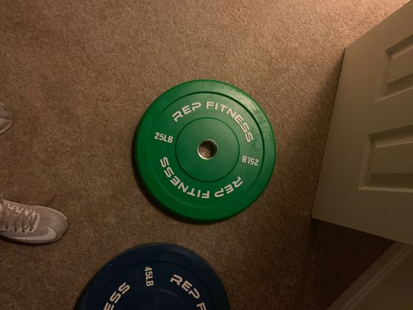 Olympic barbell with weights