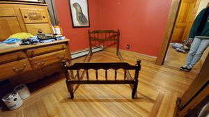 TWIN SIZE Antique bed frame. DELIVERY AVAILABLE for Sale in Hopedale, MA
