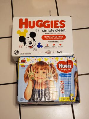 Huggies wipes 2 boxes for Sale in Sacramento, CA