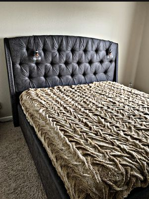 Upholstered Bed from Urban Plains Furniture - King Mattress, Frame, Headboard , Slats for Sale in Renton, WA