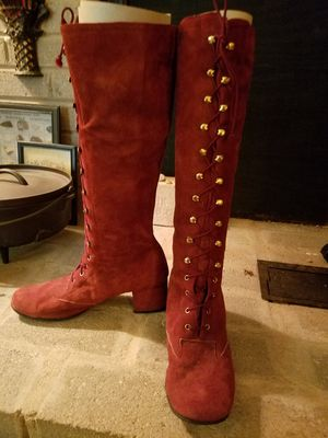 Vintage 60s suede lace up boots. for Sale in Elgin, SC