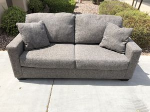Grey Model Home Living Spaces Sofa for Sale in Goodyear, AZ