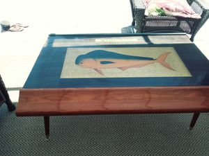 Coffee table from reclaimed bar top for Sale in Palm Harbor, FL