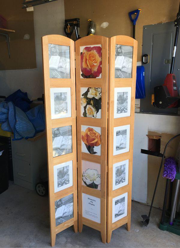 Wooden panel screen, customizable