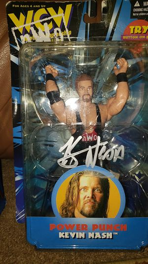 WCW NWO autograph signature Kevin Nash action figure for Sale in Toms River, NJ