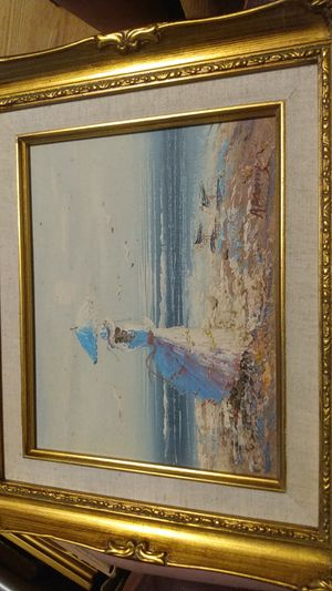 Oil painting with artist signature for Sale in Anderson, SC