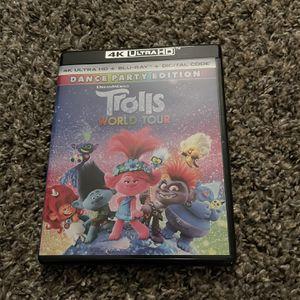 Trolls World Tour 4K UHD + Bluray (no digital code) for Sale in Fresno, CA
