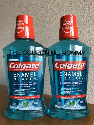 Oral Care Bundle w/ Colgate Enamel Health Mouthwash (( 2 bottles )) for Sale in Clovis, CA