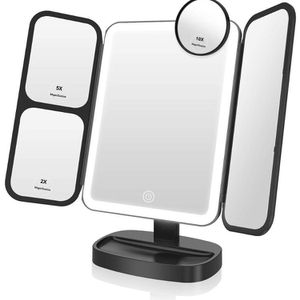 Easehold Makeup Vanity Mirror with Lights 38 LED 1X/2X/5X/10X Magnifying Soft Natural Light Ultra-Thin Stable Base Portable 180 and 90 Rotation Touch for Sale in Queens, NY