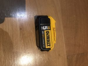 Dewalt 20 volts 5amp XR battery for Sale in Brooklyn, NY
