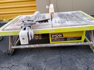 Table top Wet Time Saw-Ryobi for Sale in Sunrise, FL