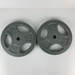 Cap Set 2 Barbell Dumbbell Weight Plates 25 Lb 50 Lb Total weight for Sale in Owings Mills, MD
