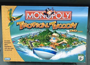 Monopoly board game Tropical Tycoon DVD Game by Parker Brothers for Sale in Alexandria, VA