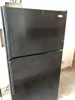 Whirlpool Top Mount Fridge and FC Dishwasher in Black for Sale in Atlanta, GA
