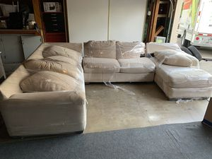 Three sectional couch for Sale in Santa Clarita, CA