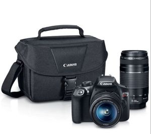 Canon EOS Rebel T6 DSLR Camera with 18-55mm and 75-300mm Lenses Kit for Sale in Seattle, WA