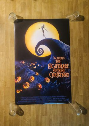 """The Nightmare Before Christmas Poster - 24"""" X 36"""" - Mint Condition for Sale in Seattle, WA"""