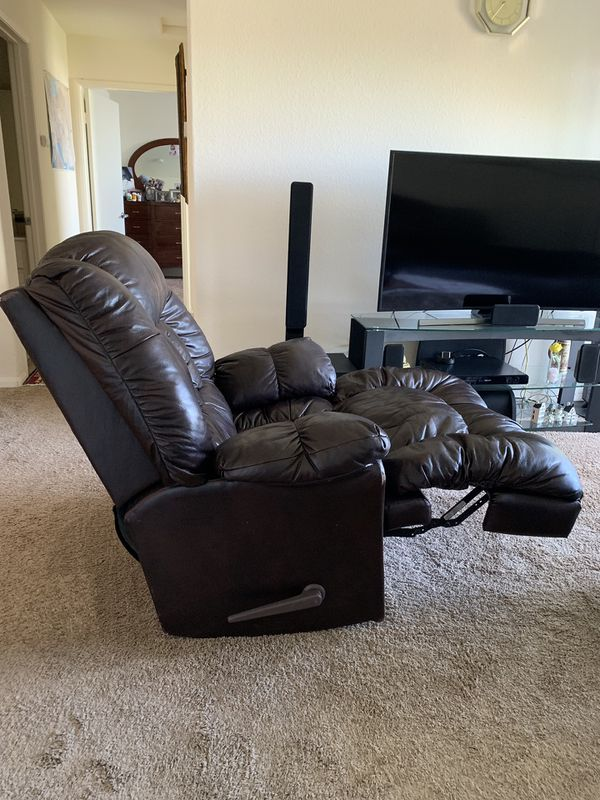Brown Leather Recliner 1.5 Year Old