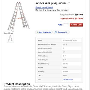 Little Giant MXZ-17 Ladder for Sale in Issaquah, WA