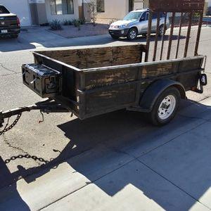 2017 Utility Trailer 5 X 8 Wood Floor 3000 Pound Capacity Arizona Title Permanent Plates for Sale in Phoenix, AZ