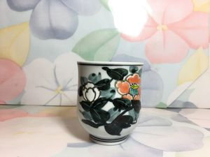Tiny flower Asian tea cup for Sale in Blandford, MA