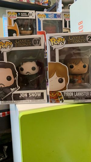 Game Of Thrones Funko Pop (Jon Snow and Tyrion Lannister) for Sale in La Habra Heights, CA