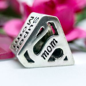 """""""Super Mom"""" 925 Sterling Silver Charm - will fit Pandora for Sale in Las Vegas, NV"""