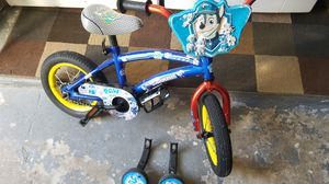 Paw Patrol kids bike bicycle with training wheels for Sale in Redington Shores, FL