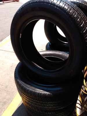 Set 235/55/17 Goodyear Eagle RS-A used $280 Includes installation and balance for Sale in Santa Fe Springs, CA