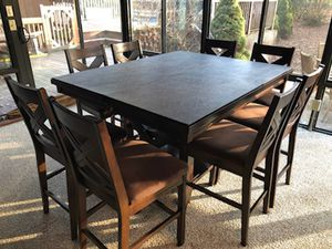 Counter height table, 8 chairs, protective table pads for Sale in Ashland, MA