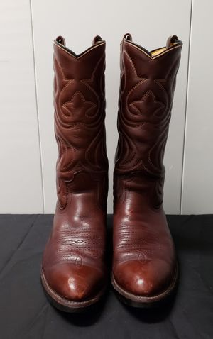 Men's Leather Western Boots Size 9.5 D Brand Unknown for Sale in Largo, FL