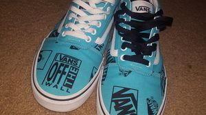 (Vans) teal, black and white for Sale in Knightdale, NC