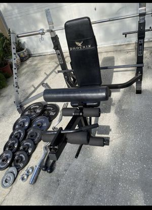 PHOENIX HB600 OLYMPIC BENCH/WEIGHTS for Sale in Wesley Chapel, FL