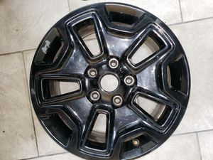 OEM Jeep Black Alloy Wheel 17x7.5 10-Slot for Sale in Pittsburgh, PA