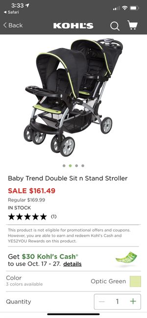 Babytrend stand and sit double stroller for Sale in Pompano Beach, FL