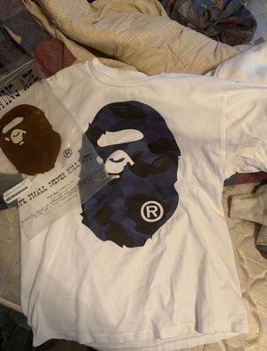 White/Blue Bape Shirt for Sale in Cincinnati, OH
