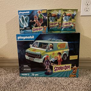 New Scooby-Doo Playmobil Lot Mystery Machine Shaggy Scooby 2 Villain Blind Bags for Sale in Humble, TX