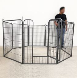 "$110 New In Box 8-Panel Dog Playpen, Each Panel 40"" Tall X 32"" Wide Heavy Duty Pet Exercise Fence Crate Kennel Gate for Sale in Whittier,  CA"
