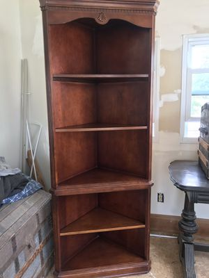 Wood Hutch and Wood Corner Shelf . for Sale in Cleveland, OH