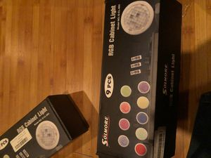 RGB cabinet light AAA batteries needed not included for Sale in Lynwood, CA