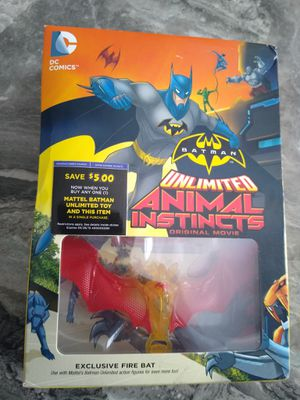 Batman unlimited animal instincts dvd with firebat figure shipping only no pickup for Sale in Apalachicola, FL