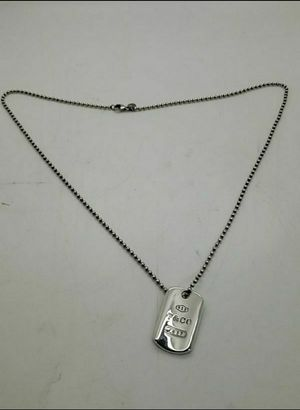 Tiffany & Co 925 sterling silver 1837 dog tag bar and silver bead chain for Sale in Miramar, FL